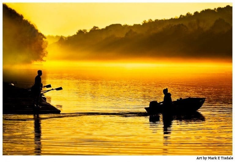 A Golden Moment on the Chattahoochee