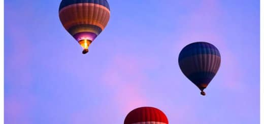 Luxor Egypt - Phoot of Hot Air Balloons in flight
