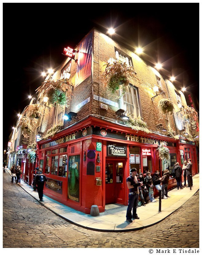 Fisheye photo from Dublin's famous Temple Bar