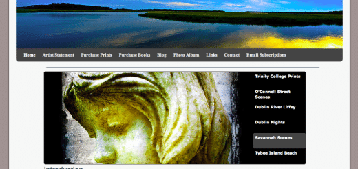 Screenshot of my new website