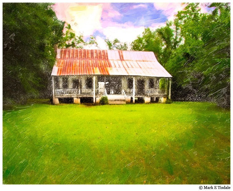 A Classic Dogtrot in Rural Alabama - Textured Picture