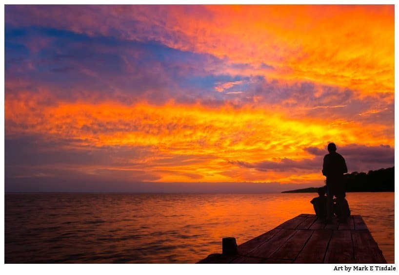A Fiery Sunset on Lake Nicaragua - Dazzling Photo from Solentiname