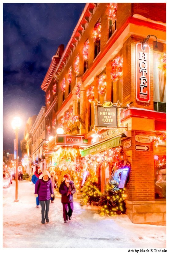 Festive Streets of Old Quebec Photo Art