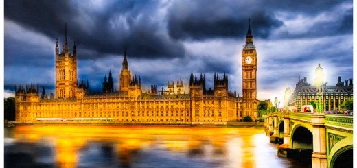 London Palace of Westminster After Dark