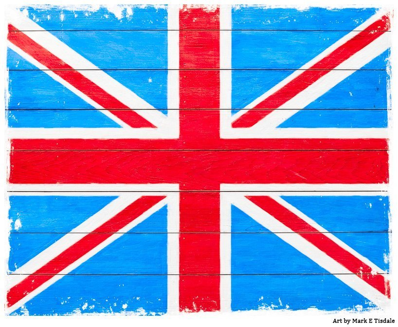 Rustic Union Jack Flag Design