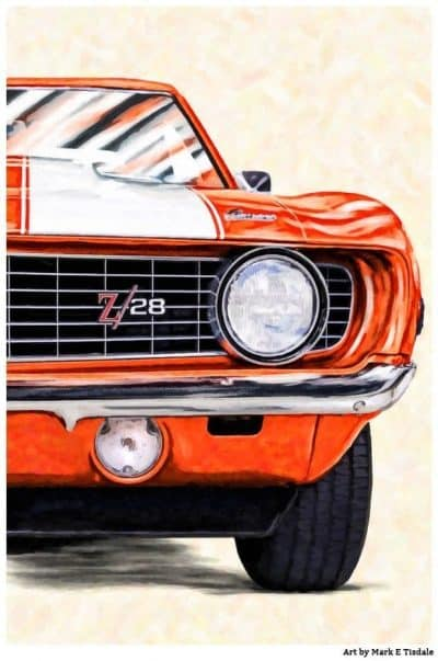 1969 Camaro Artwork - Classic Camaro Poster by Mark Tisdale