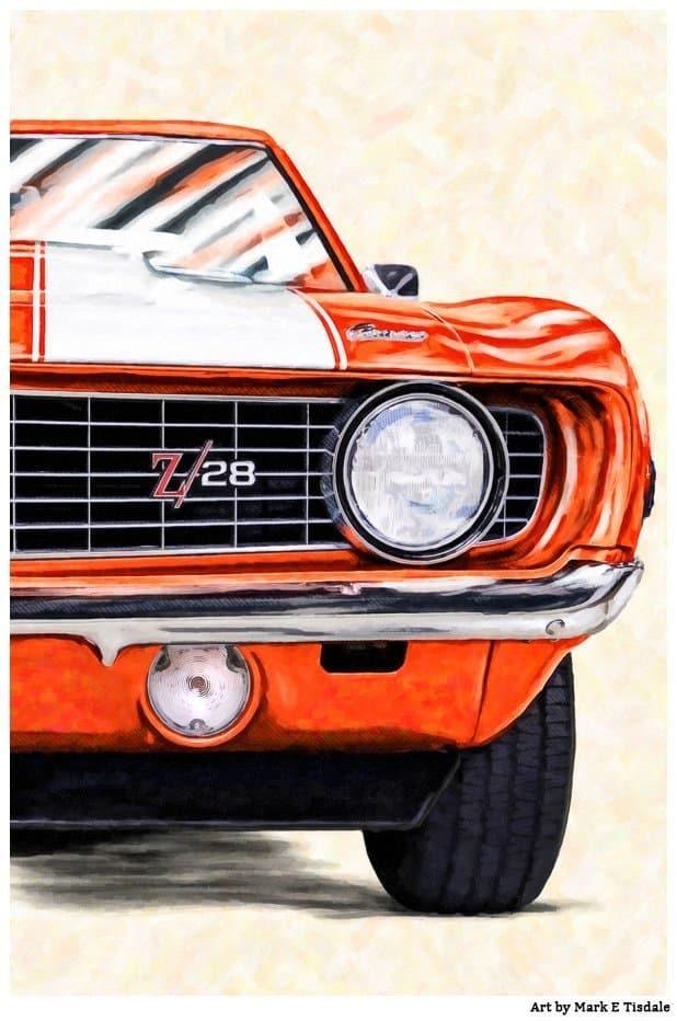 1969 Camaro Artwork – Classic Hugger Orange