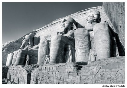Egyptian Ruins Print by Mark Tisdale - Abu Simbel