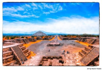 Art Print of Teotihuacan Ruins - Avenue Of The Dead