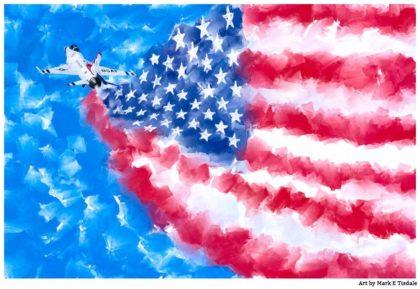 Air Force Painting - Patriotic Art Print