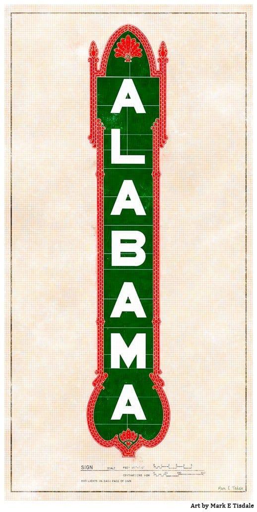Alabama Theatre Sign – Birmingham Art