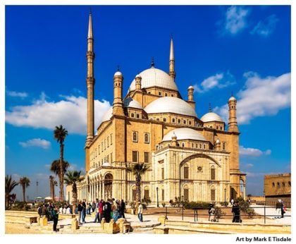 Art print of the Alabaster Mosque - the Mosque of Muhammad Ali Pasha in Cairo Egypt