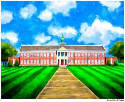 Art print of Andalusia High School - heritage architecture
