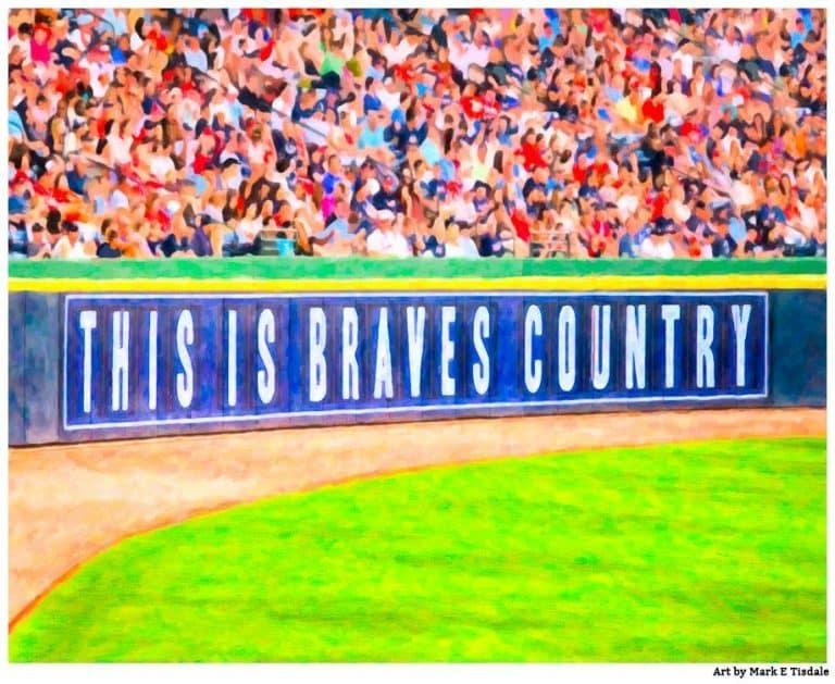 Atlanta Braves Print – Braves Country Sign