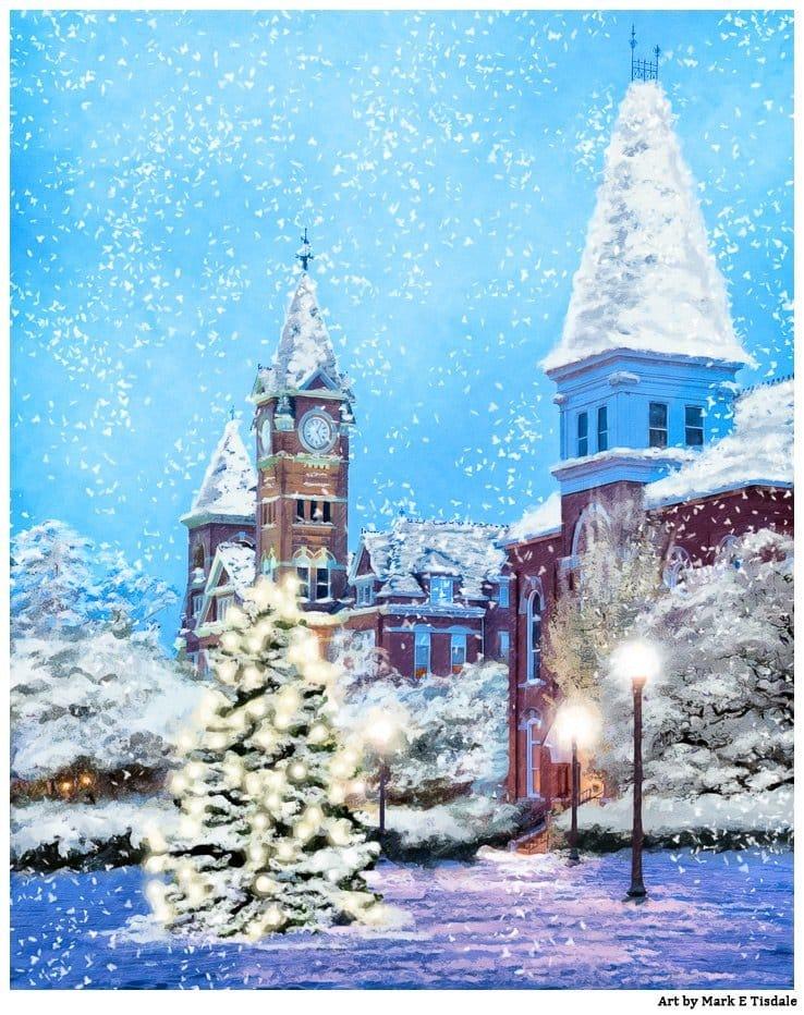 Auburn Christmas Spirit – Falling Snow