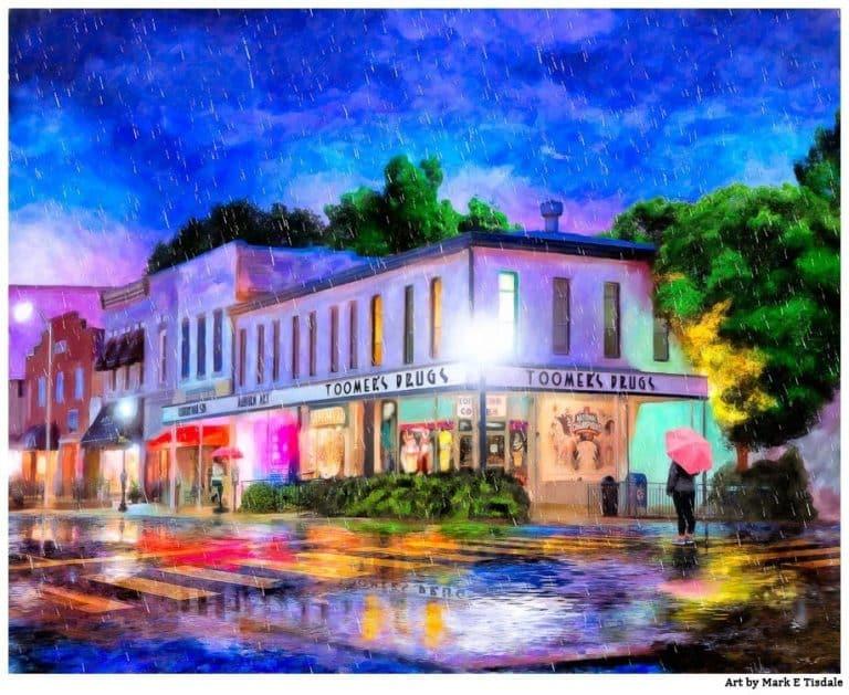 Auburn In The Rain – Toomer's Art