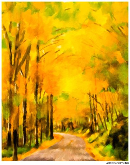 Autumn Abstract Painting - Appalachian Fall Art Print by Mark Tisdale