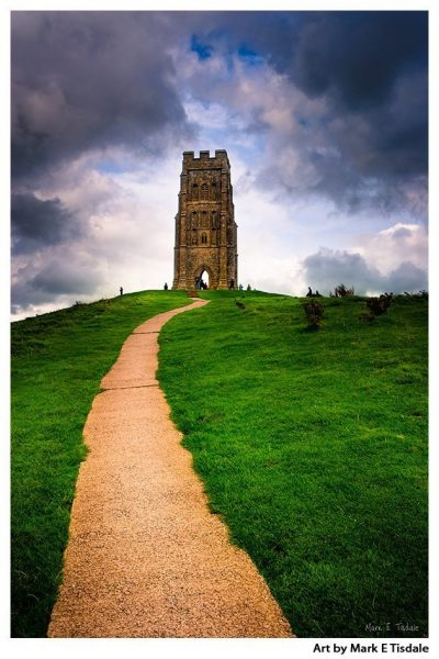 Art print of Glastonbury Tor - Mystical Avalon in Somerset England