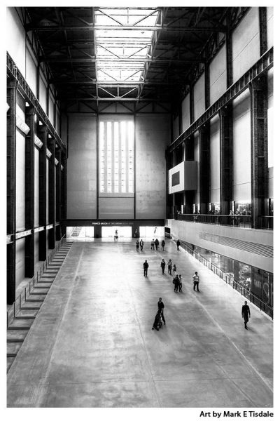 Art Print of the Turbine Hall at the Old Bankside Power Station in London