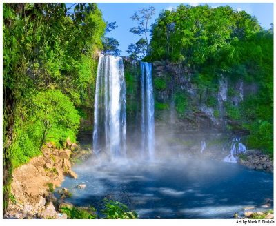 Art Print of Beautiful Waterfalls in A Mexican Landscape - Chiapas