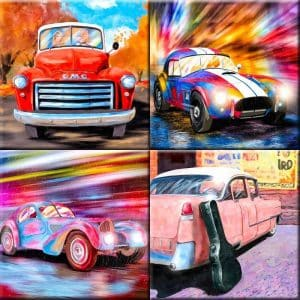 Cars And Trucks Art Print Collection