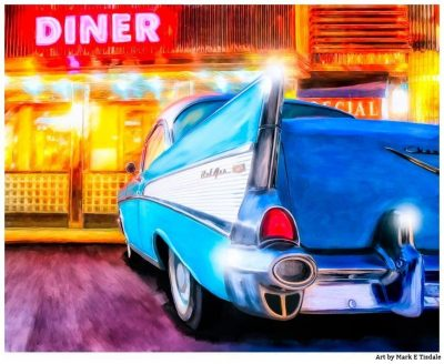 Classic 1957 Chevy Tail Fin Art Print