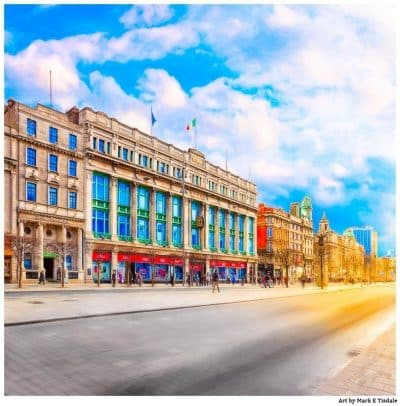 Art Print of Clerys On O'Connell Street in Dublin Ireland
