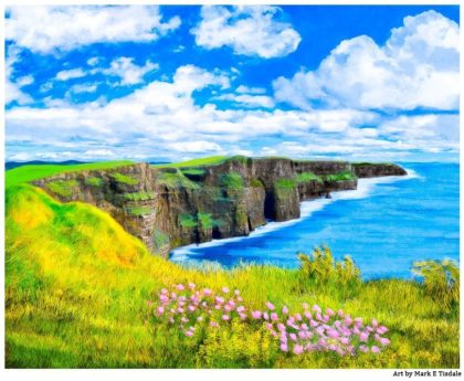 Cliffs of Moher - Irish Landscape Art Print by Mark Tisdale