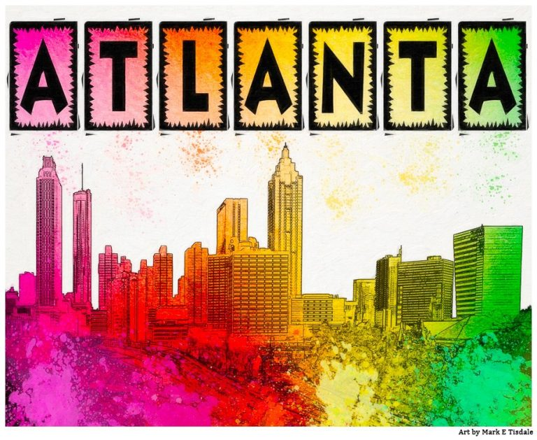 Colorful Atlanta Skyline Art