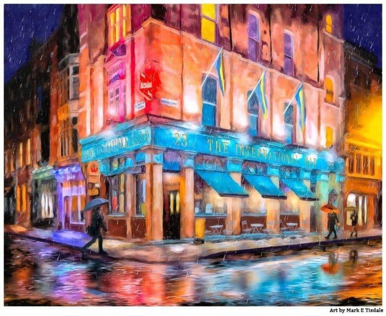 Dublin Pub Art – Dublin In The Rain