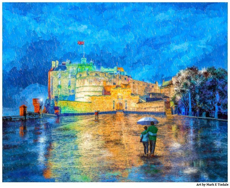 Edinburgh Castle Print – Falling Rain Art