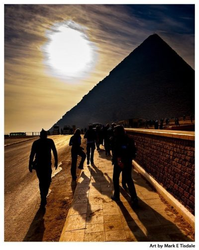 Art print of the largest of The Egyptian Pyramids