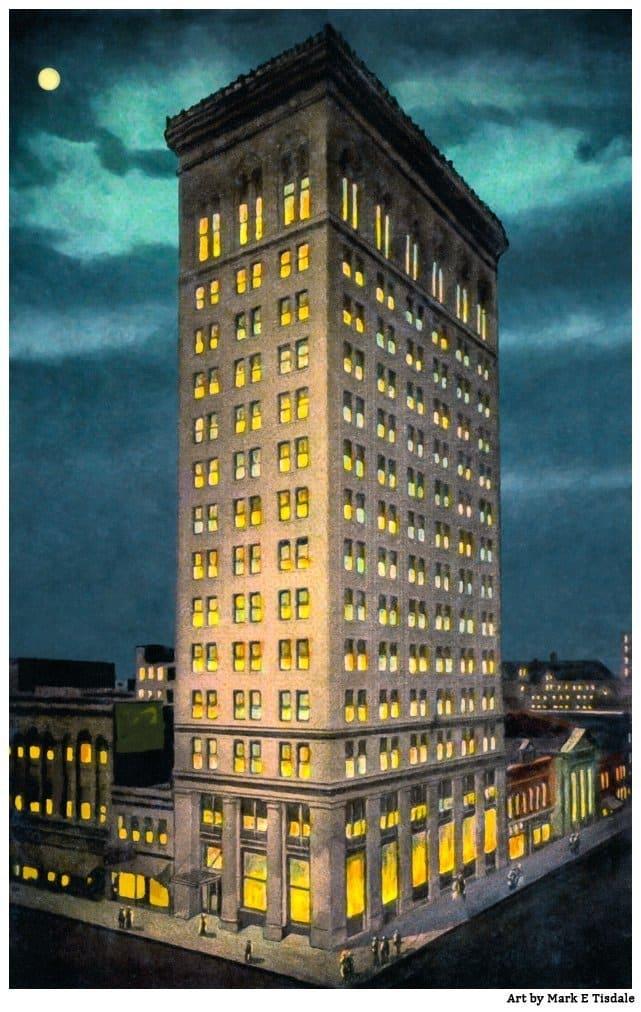 Empire Building – Vintage Birmingham Alabama Postcard