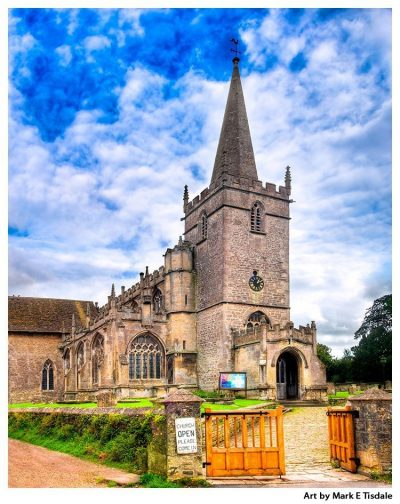 Art Print of the Village Church of Lacock Enland