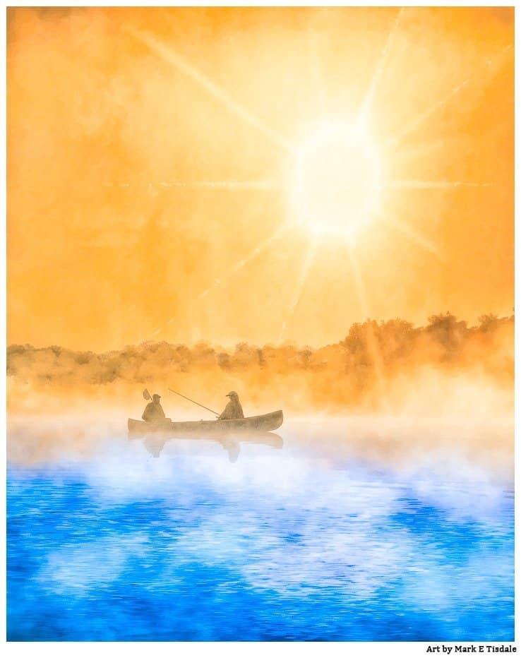 Fishing Boat Art – Dawn On The Water