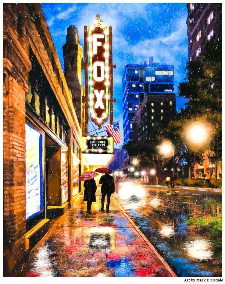 Fox Theatre – Rainy Atlanta Art