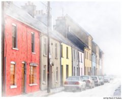 Art Print of Galway City In A Winter Fog