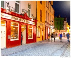 Art Print of a Galway Night Out - Irish Pubs