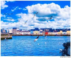 Art print of the Galway Seaside in Western Ireland