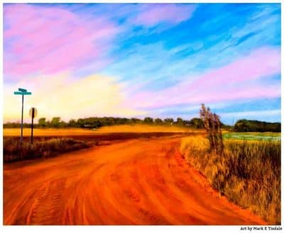 Art Print of a Georgia Red Dirt Road - Macon County