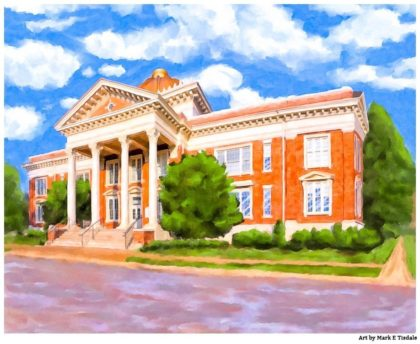 Georgia Southwestern State University Print by Local Artist and alumni Mark Tisdale