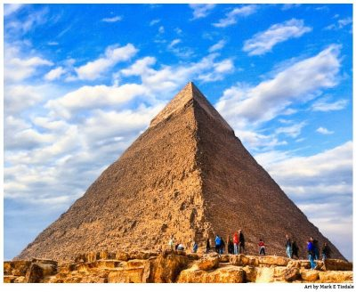 Art Print of one of the Giza Pyramids - Second Pyramid on the Plateau