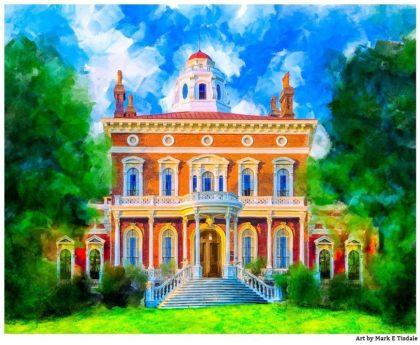 Hay House - Macon Georgia Art Print by local artist Mark Tisdale