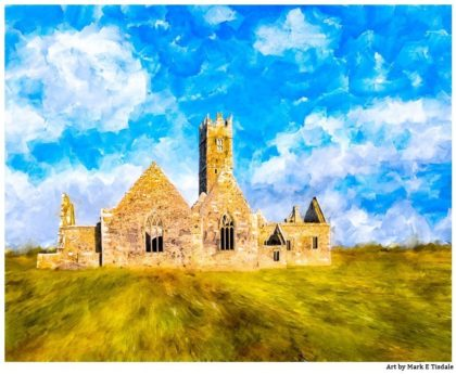 Irish Monastery - Landscape Art Print by Mark Tisdale