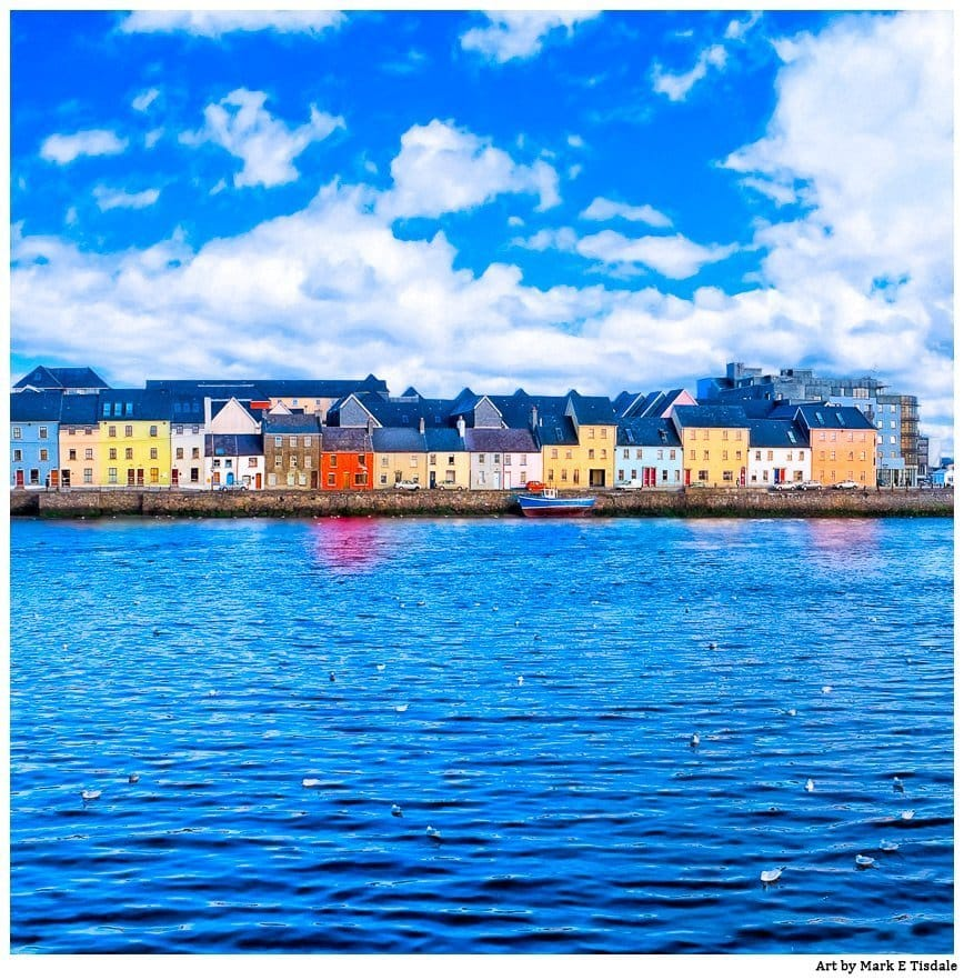 Irish Seaside Art Print - Galway Waterfront