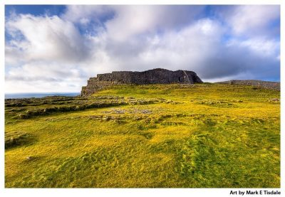 Art print of the Iron Age Ruins of Dun Aengus off the Irish West Coast