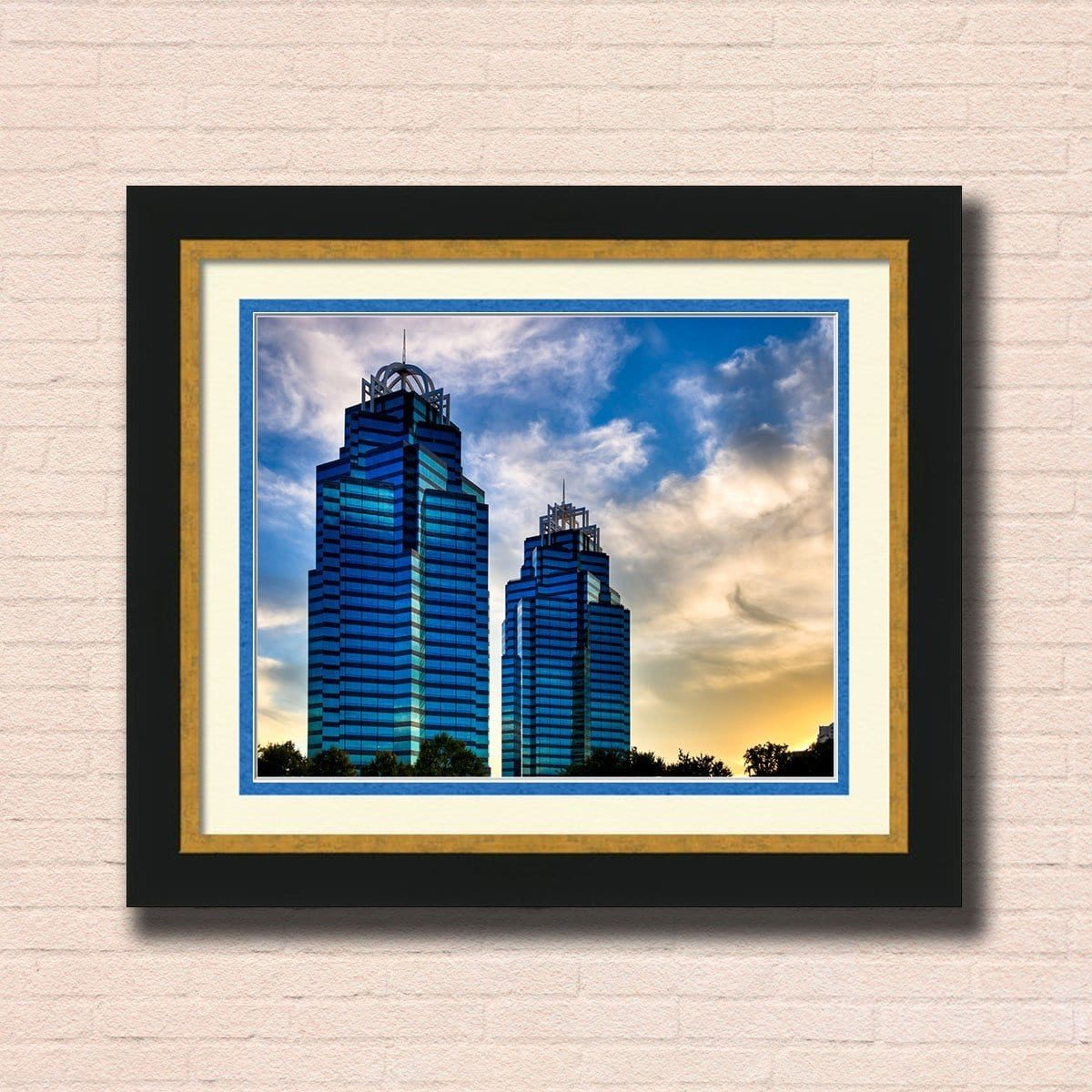 King And Queen Towers - Atlanta Framed Wall Art