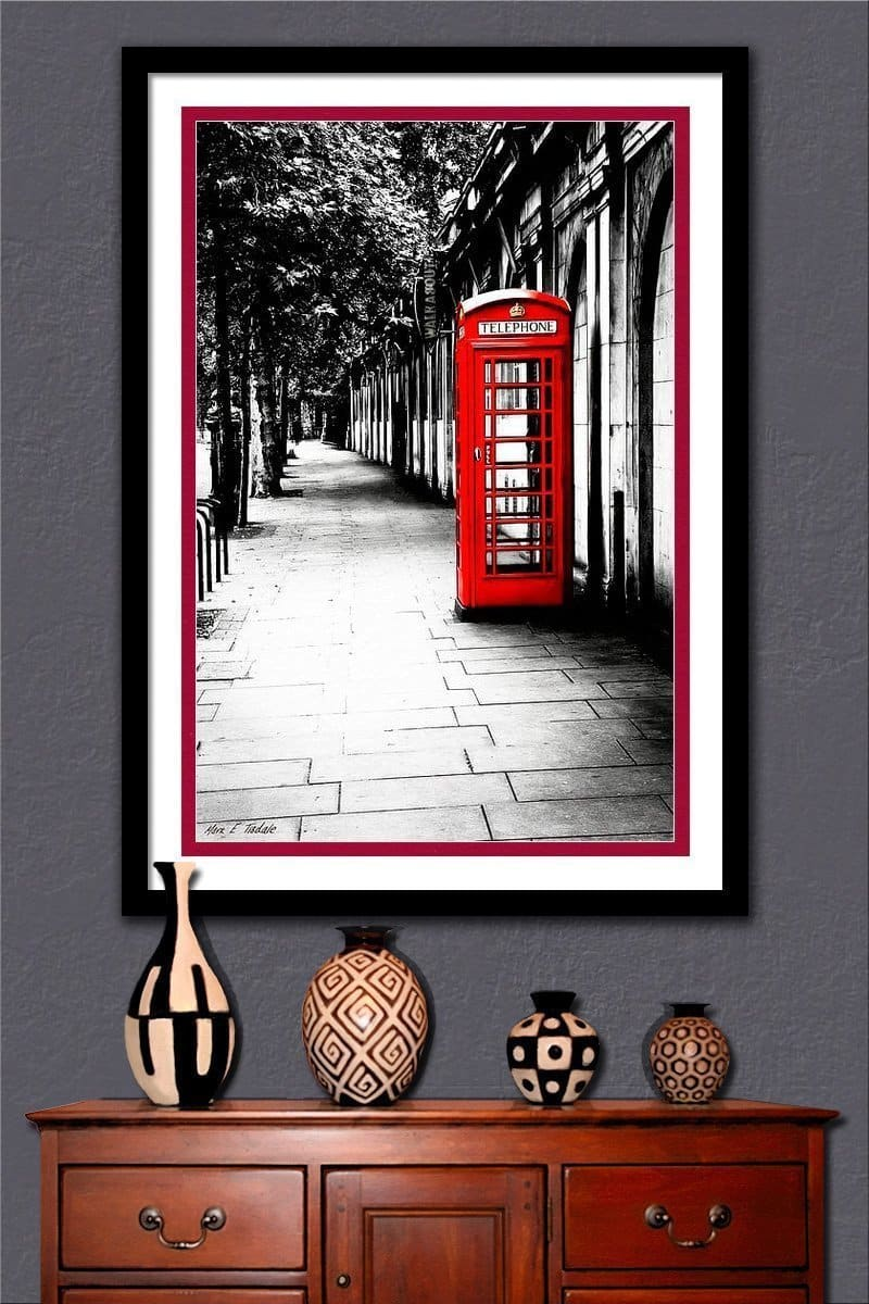 Red Telephone Box Framed Art Print