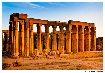 Art print of Luxor Ruins - Columns of Ancient Thebes