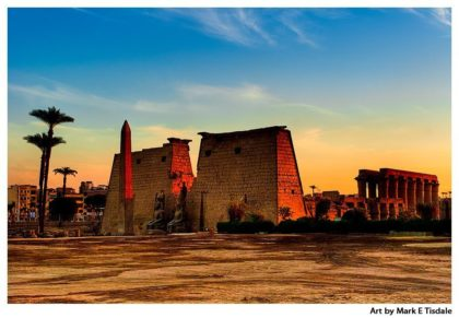 Luxor Temple Ruins - Egypt Print by Mark Tisdale